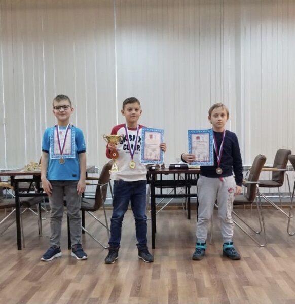 Призёры первенства города по шахматам 2020