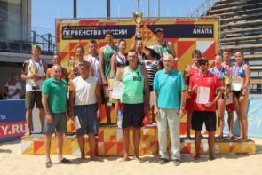 август 2019 Первенство РФ по пляжному волейболу 1 место